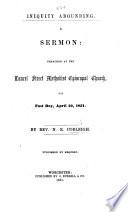 Iniquity Abounding  A sermon  etc