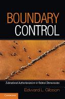 Boundary Control