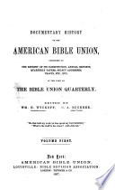 Documentary History of the American Bible Union