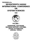 Proceedings of the Seventeenth Hawaii International Conference on System Sciences 1984