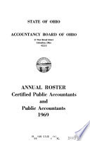Annual Roster, Certified Public Accountants and Public Accountants