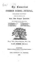 The Connecticut Common School Journal