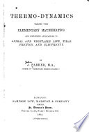 Thermo dynamics Treated with Elementary Mathematics