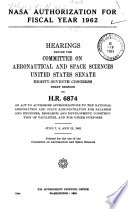Nasa Authorization For Fiscal Year 1962