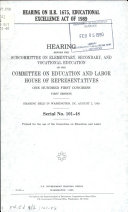 Hearing on H R  1675  Educational Excellence Act of 1989
