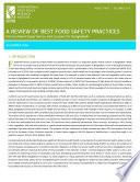 A review of best food safety practices  International experiences and lessons for Bangladesh