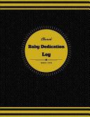 Church Baby Dedication Log