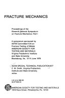 Proceedings of the Eleventh National Symposium on Fracture Mechanics
