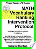 Standards Driven Math Vocabulary Ranking