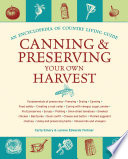Canning   Preserving Your Own Harvest Book