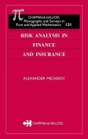 Risk Analysis in Finance and Insurance Book