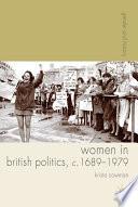 Women In British Politics C 1689 1979