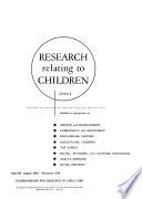 Research Relating to Children Pdf/ePub eBook