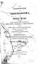 Constitution of Freemasonry