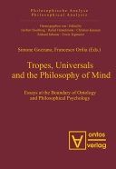 Tropes  Universals and the Philosophy of Mind