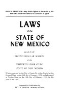 Laws of the State of New Mexico