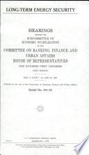 Long term Energy Security Book