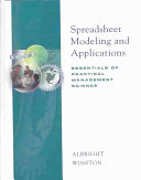 Spreadsheet Modeling and Applications Book