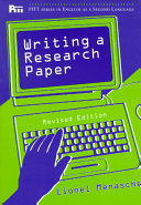 Writing a Research Paper