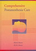 Comprehensive Postanesthesia Care Book