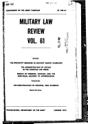 Military Law Review Vol  61