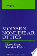 Advances in Chemical Physics, Volume 85, Part 1  : Modern Nonlinear Optics