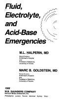 Fluid, Electrolyte, and Acid-base Emergencies