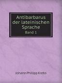 Antibarbarus der lateinischen Sprache Pdf/ePub eBook