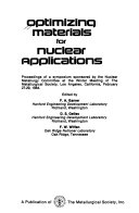 Optimizing Materials for Nuclear Applications Book