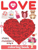 I Love You  Happy Valentine s Day Coloring Book
