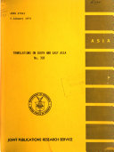 Translations on South and East Asia Book PDF
