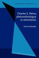 Pdf Charles S. Peirce, phénoménologue et sémioticien Telecharger