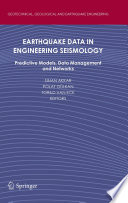 Earthquake Data In Engineering Seismology Book PDF