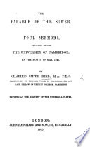 The Parable of the Sower  Four Sermons Preached Before the University of Cambridge  Etc Book