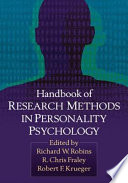 Handbook of Research Methods in Personality Psychology Book