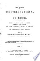 Dublin Quarterly Journal of Science Book