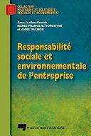 Pdf Responsabilité sociale et environnementale de l'entreprise Telecharger