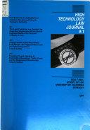 High Technology Law Journal