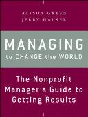 Managing to Change the World [Pdf/ePub] eBook