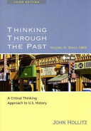 Thinking Through the Past  Since 1865 Book PDF