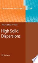 High Solid Dispersions