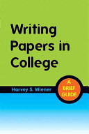Writing Papers in College Book