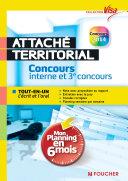 Visa - Attaché territorial - Concours interne et 3e concours - Mon planning en 6 mois