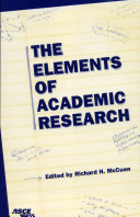 The Elements of Academic Research