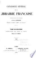 Catalogue général de la librairie française: 1900-1905