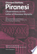 Observations on the Letter of Monsieur Mariette