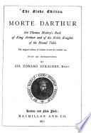 Morte D Arthur Book