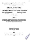 Bibliographie der fremdsprachigen Zeitschriftenliteratur