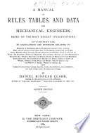Manual Of Rules Tables And Data For Mechanical Engineers Book PDF