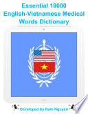 Essential 18000 Medical Words Dictionary In English Vietnamese